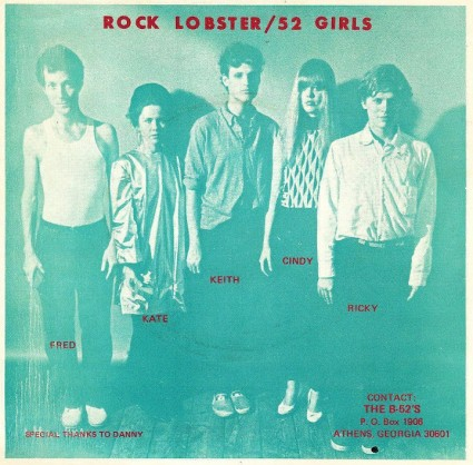 B-52s 'Rock Lobster' Sleeve Back 1978 Photo By Ann States