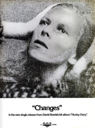 David Bowie, 'Changes' (Billboard magazine, February 16, 1974) Click to enlarge.