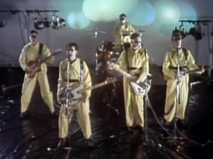 Devo, attempting to obtain 'Satisfaction,' yet finding none, 1978.