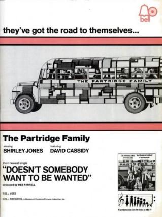 The Partridge Family, 'Doesn't Somebody Want To Be Wanted' ('Billboard' magazine, February 20, 1971). Click to enlarge.