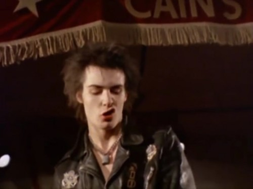 Sid Vicious, Sex Pistols US tour, January, 1978.