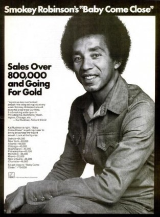 Smokey Robinson, 'Baby Come Close' ('Billboard' magazine, February 16, 1974) Click to enlarge.