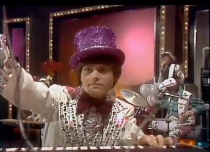 Donny Osmond and purple topper. ('Donny & Marie Show,' 1970s)
