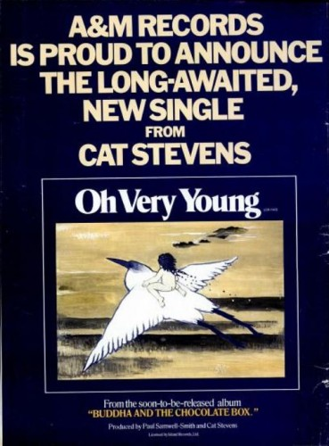 Cat Stevens, 'Oh Very Young' ('Billboard' magazine, March 09, 1974). Click to enlarge.