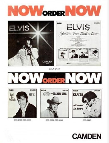 Elvis On Camden Records ('Billboard' magazine, March 06, 1971). Click to enlarge.