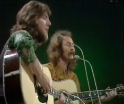 Graham Nash and David Crosby. Happier times in 1970.