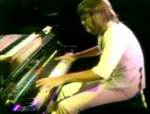 Keith Emerson performs at California Jam, 1974