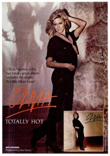 Olivia Newton-John 'Totally Hot' ('New York' magazine, December 05, 1978). Click to enlarge.