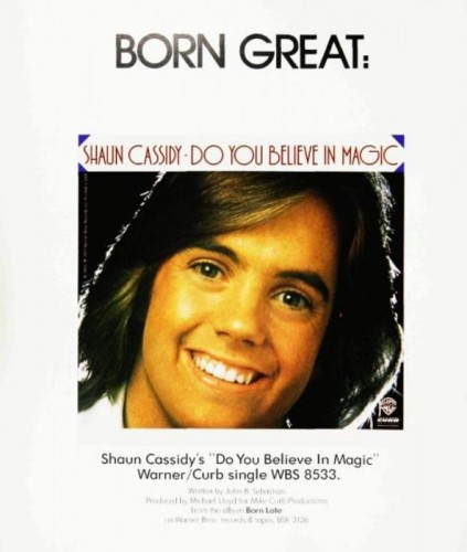 Shaun Cassidy, 'Do You Believe In Magic' ('Billboard' magazine, March 04, 1978). Click to enlarge.