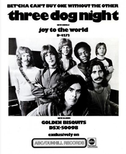 Three Dog Night, 'Joy To The World' ('Billboard' magazine, March 06, 1971). Click to enlarge.