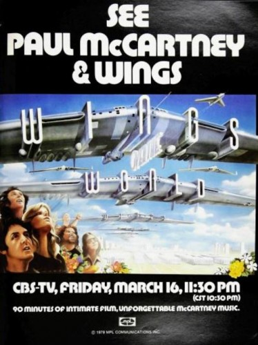Paul McCartney & Wings, 'Wings Over The World' TV Special ('Billboard' magazine, March 17, 1979). Click to enlarge.
