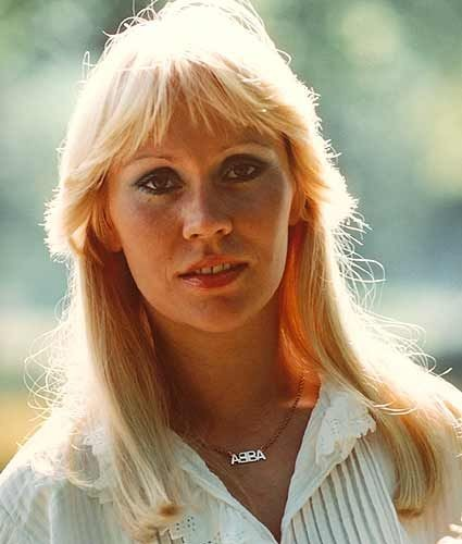Agnetha Fältskog in 1977. (Via ABBA Official Site)