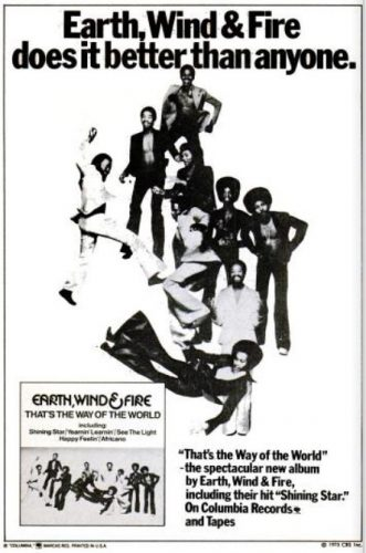 Earth, Wind & Fire, 'That's The Way Of The World' ('Jet' magazine, March 27, 1975). Click to enlarge.