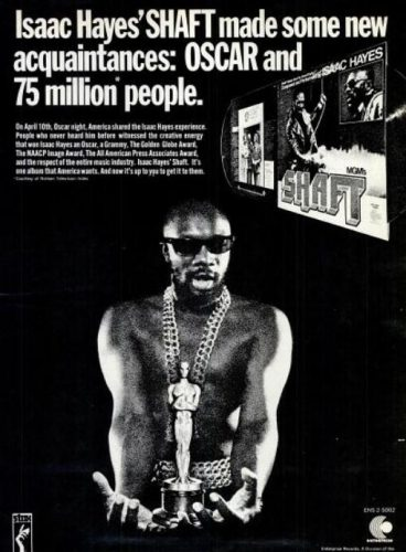 Isaac Hayes, 'Shaft' ('Billboard' magazine, April 22, 1972). Click to enlarge.