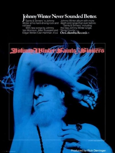 Johnny Winter, 'Saints & Sinners' ('Billboard' magazine, February 16, 1974). Click to enlarge.