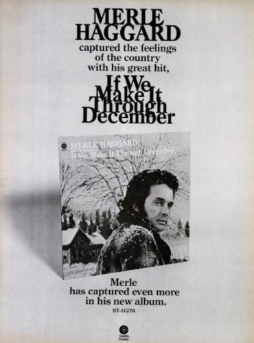 Merle Haggard, 'If We Make It Through December' ('Billboard' magazine, February 16, 1974). Click to enlarge.