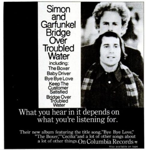 Simon And Garfunkel, 'Bridge Over Troubled Water' ('New York' magazine, March 02, 1970). Click to enlarge.