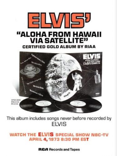 Elvis' 'Aloha From Hawaii' ('Billboard' magazine, March 17, 1973). Click to enlarge.