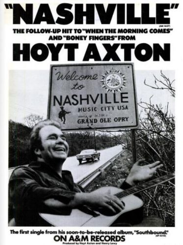 Hoyt Axton, 'Nashville' ('Billboard' magazine, February 08, 1975). Click to enlarge.