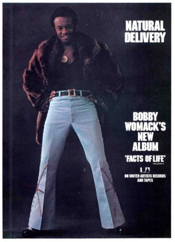 "Bobby Womack, ""Facts Of Life' ('Cashbox' magazine, July 14, 1973). Click to enlarge."