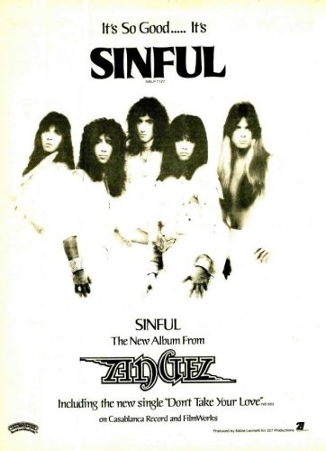 Angel, 'Sinful' ('R&R' magazine, July 24, 1979). Click to enlarge.