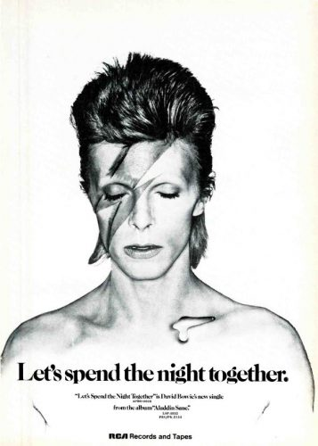 David Bowie, 'Let's Spend The Night Together' ('Cashbox' magazine, July 14, 1973). Click to enlarge.