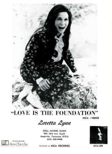 Loretta Lynn, 'Love Is The Foundation' ('Cashbox' magazine, July 07, 1973). Click to enlarge.