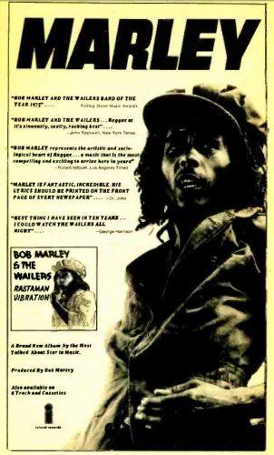 Bob Marley, 'Rastaman Vibration' (Hamilton's Radio Quarterly, 1976). Click to enlarge.