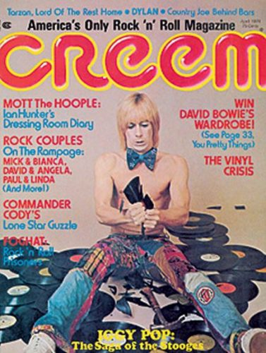 Iggy graces the cover of 'Creem' 1974