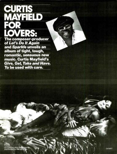 Curtis Mayfield 'Give, Get, Take and Have.' ('Billboard' magazine, June 12, 1976). Click to enlarge.