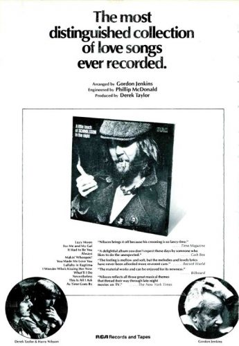 Harry Nilsson: 'A Little Touch of Schmilsson in the Night' ('Cashbox' magazine, June 30, 1973). Click to enlarge.