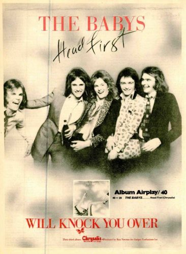 The Babys, 'Head First' ('Radio & Records' magazine, January 19, 1979). Click to enlarge.