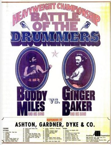 Buddy Miles & Ginger Baker Tour ('Billboard' magazine, June 03, 1972). Click to enlarge.