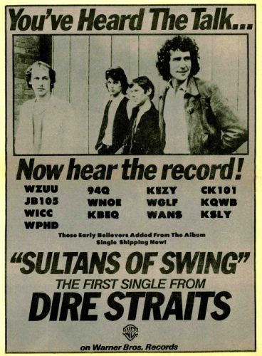 Dire Straits, 'Sultans Of Swing' ('R&R' magazine, Jan. 19, 1979). Click to enlarge.