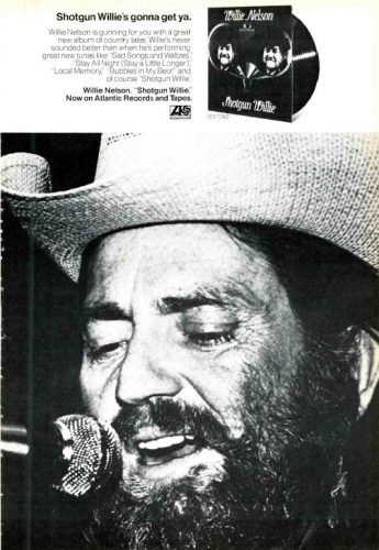 Willie Nelson, 'Shotgun Willie' ('Cashbox' magazine, June 30, 1973). Click to enlarge.