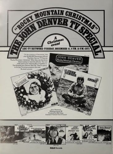 Vintage Ads John Denver Rocky Mountain Christmas 1976 Cherry