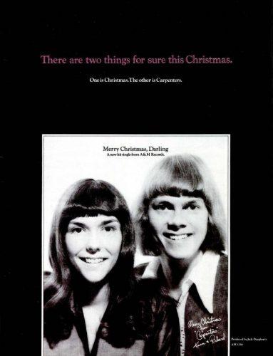 vintage ads carpenters merry christmas darling 1970