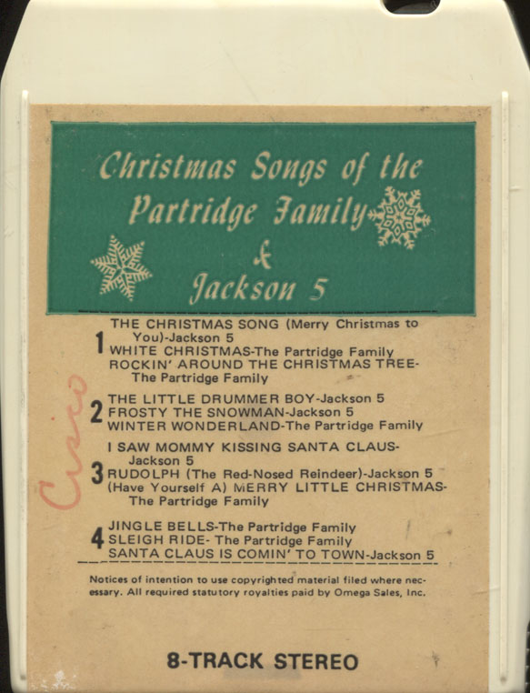 partridge family jackson 5 christmas 8 track 1970s - The Jackson 5 Have Yourself A Merry Little Christmas
