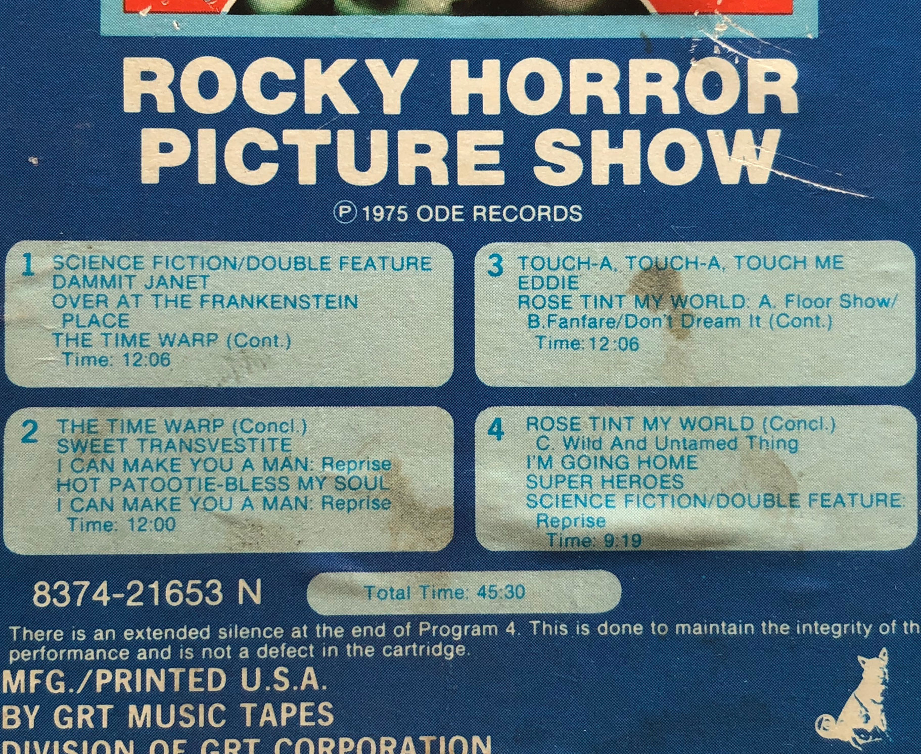 8-Trackin': 'The Rocky Horror Picture Show' (Original