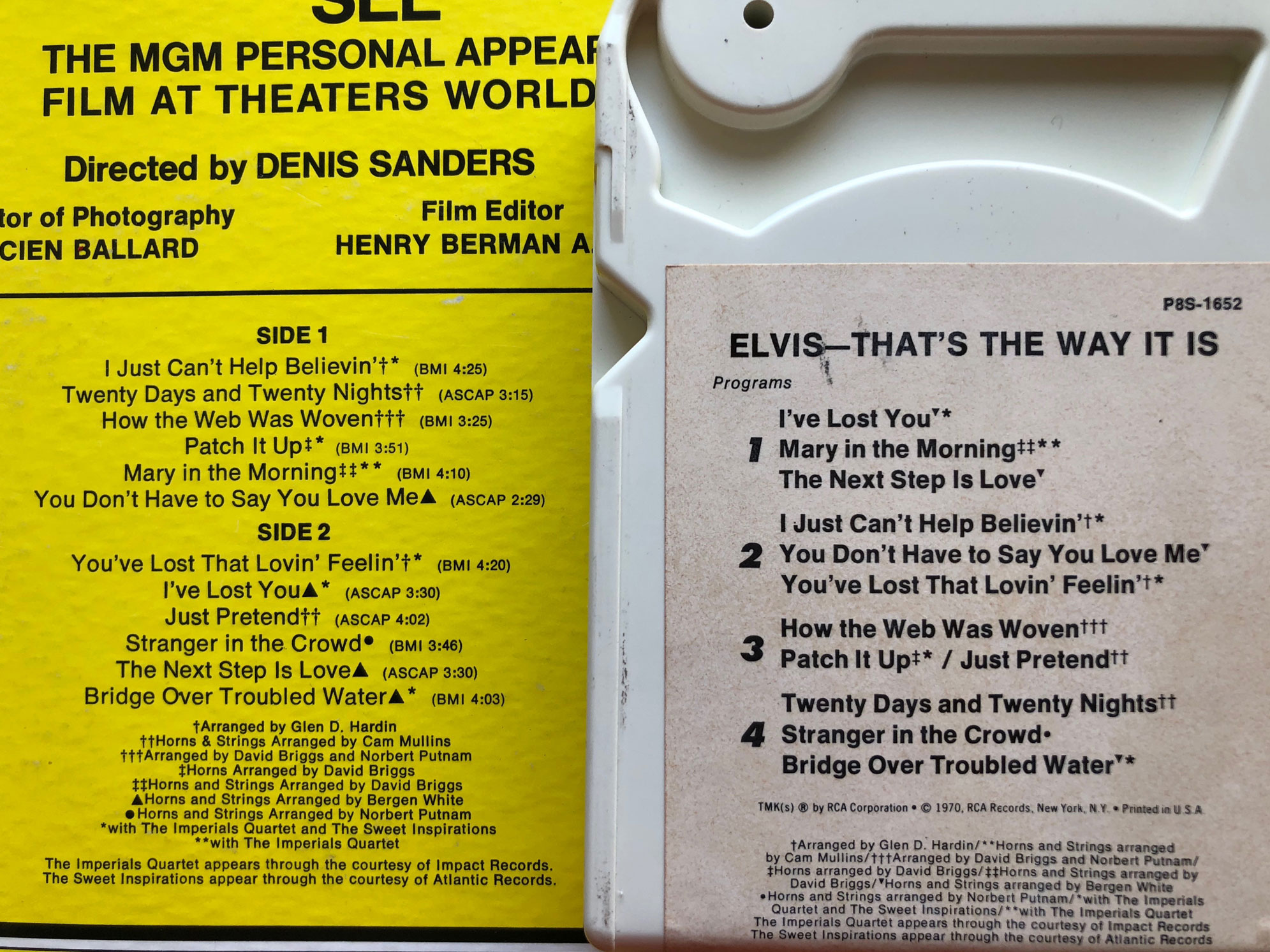 8-Trackin': Elvis Presley, 'That's The Way It Is' (1970