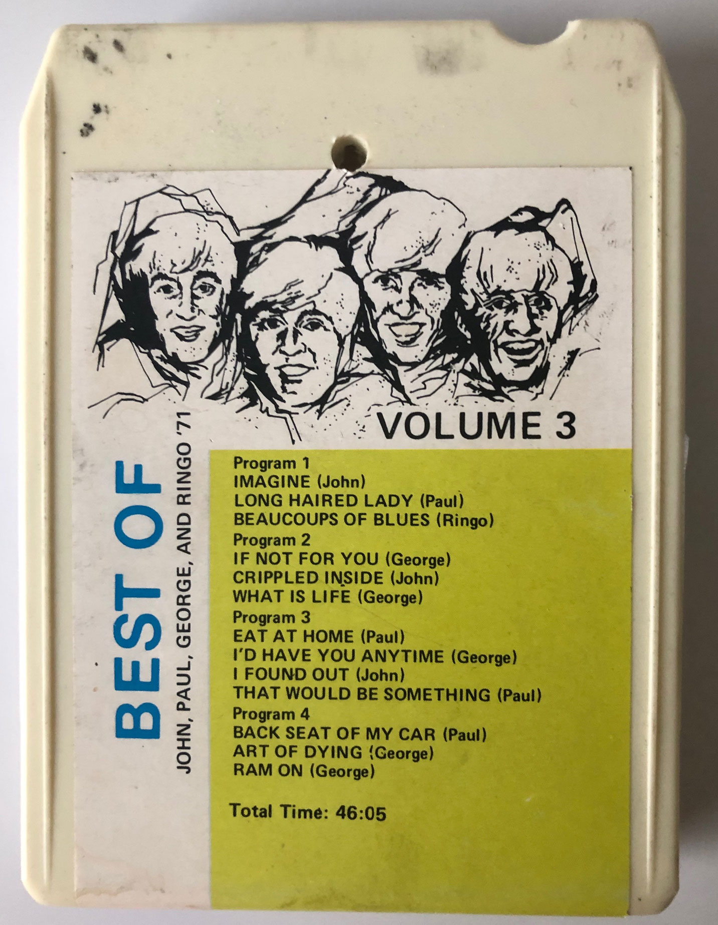 8-Trackin': Solo Beatles Bootleg Compilations (1971) – Cherry Stereo